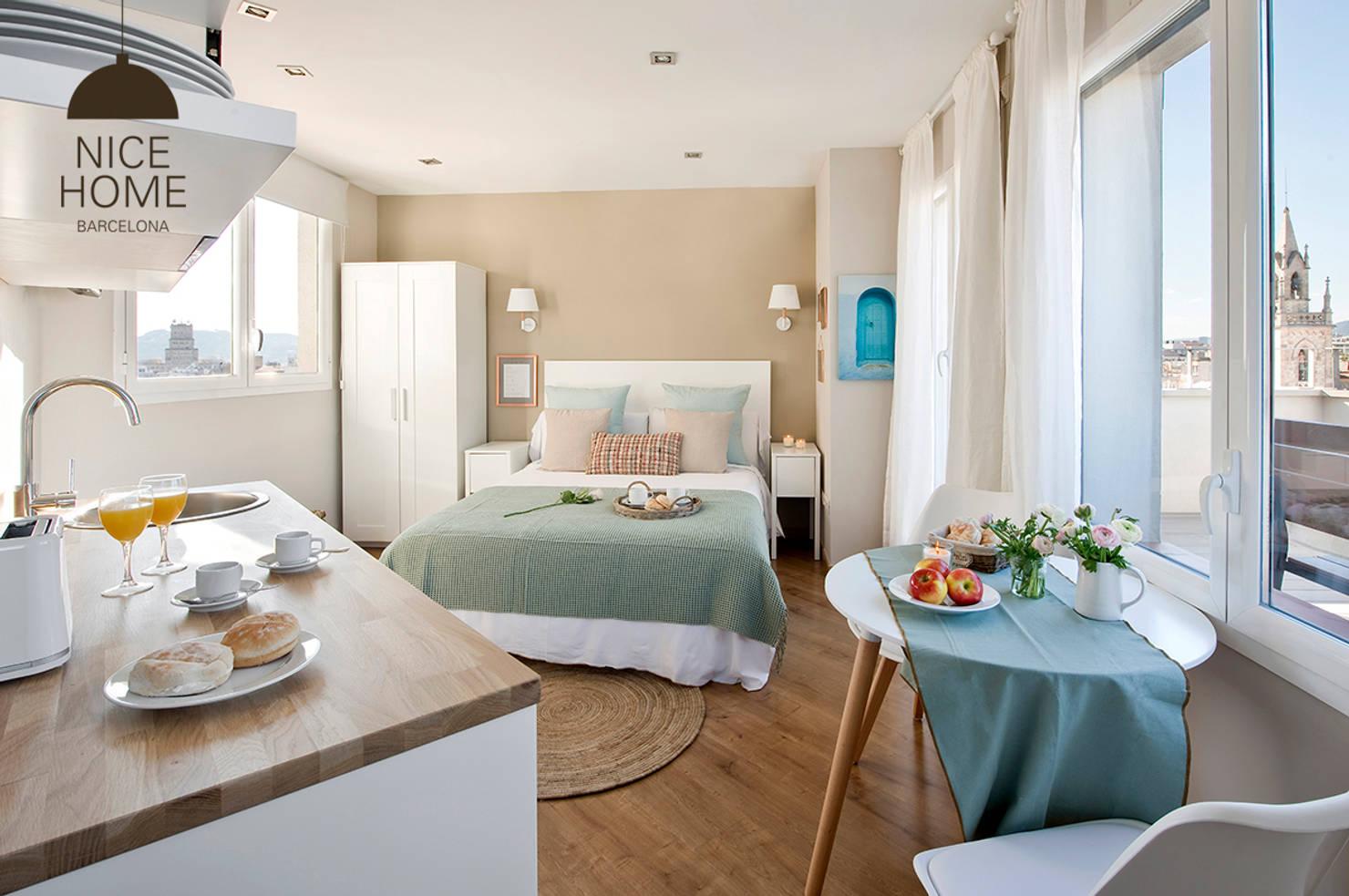 Un pequeñísimo apartamento de 16 m² que rebosa luz y estilo