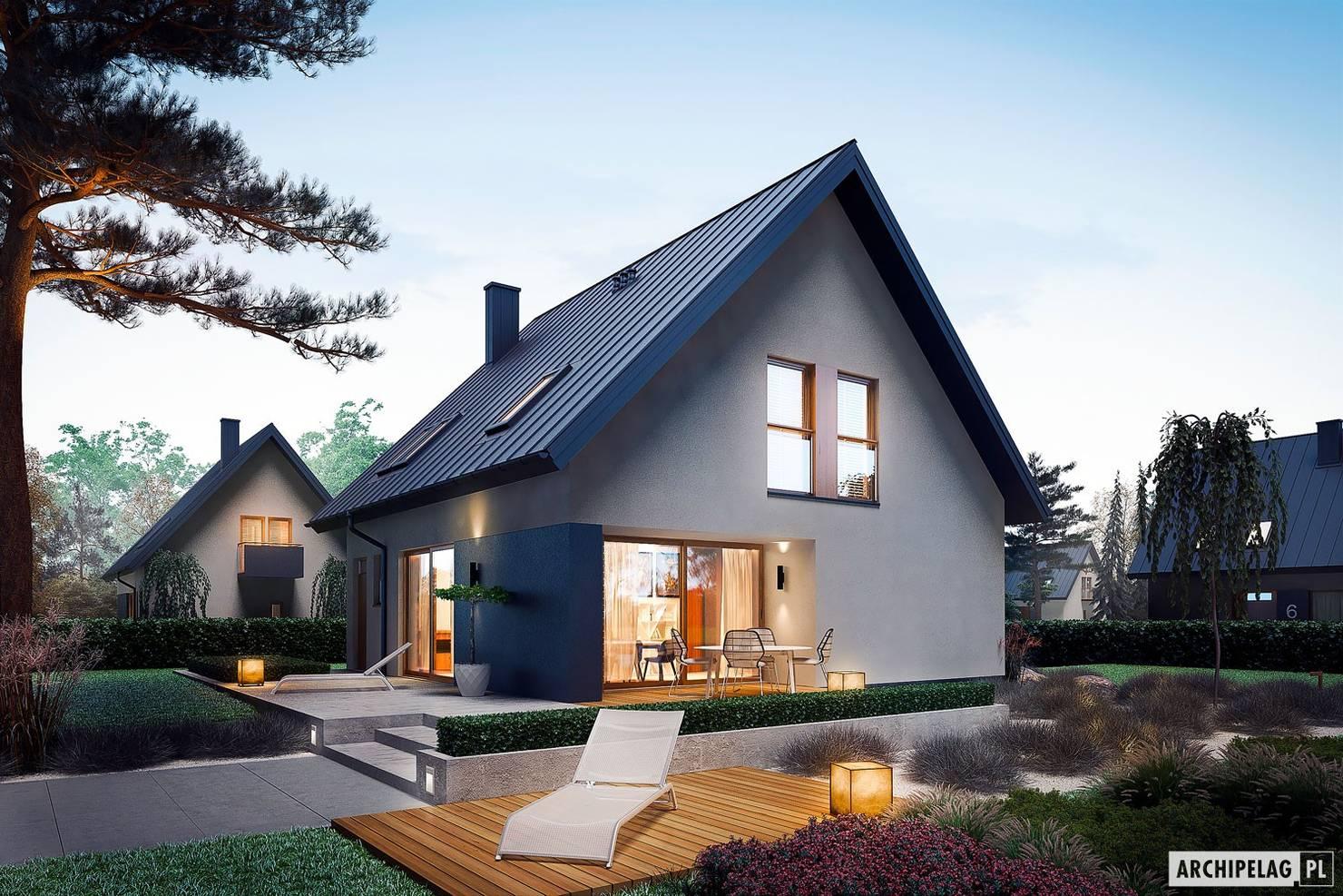 Проект недорого мансардного дома за 4,5 млн рублей- фотографии