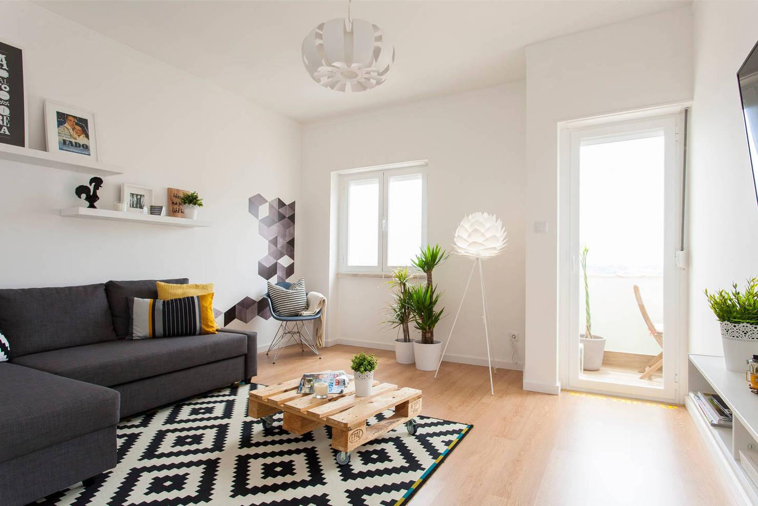 Un apartamento perfecto de 80 m² amueblado con IKEA