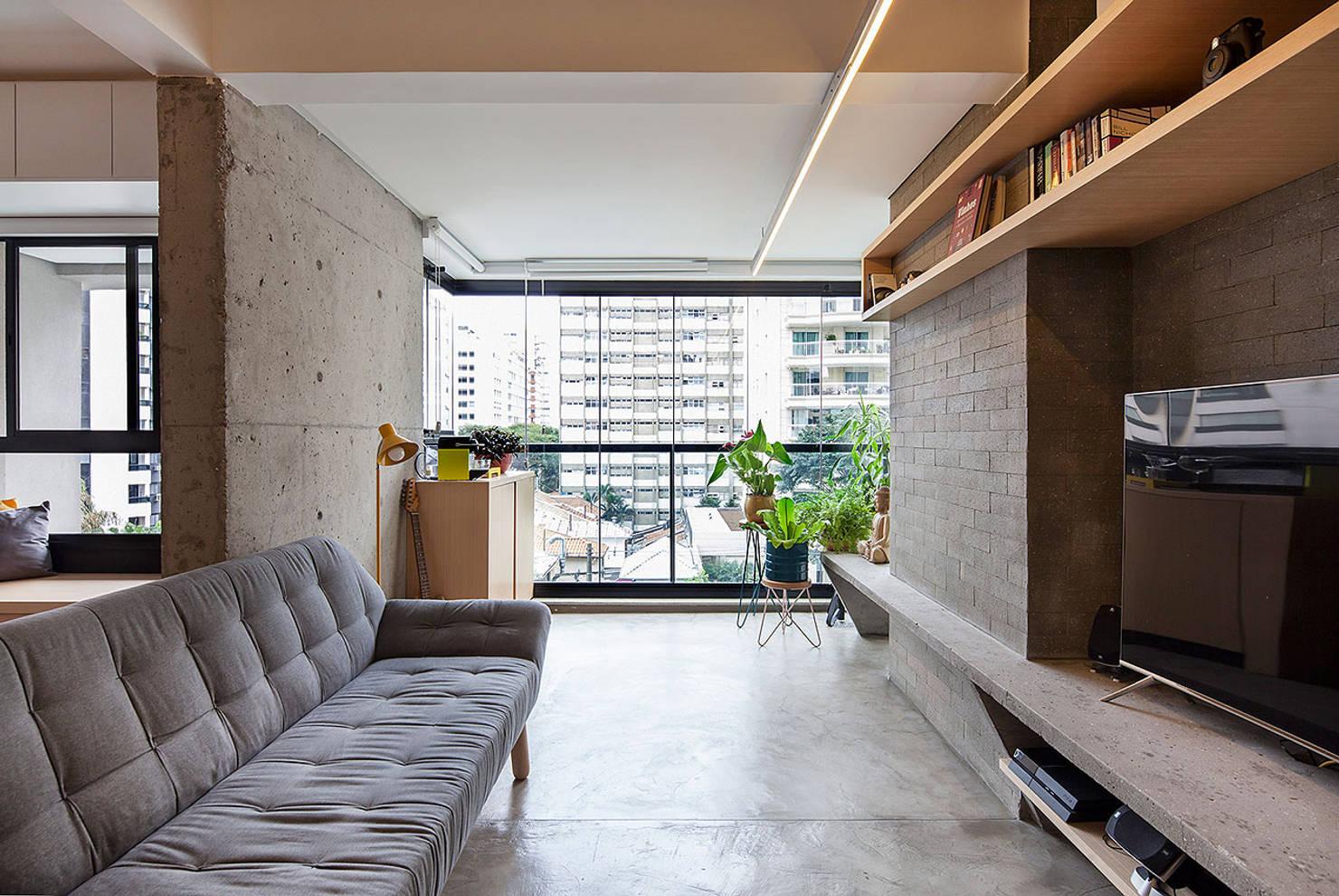 Uma kitnet moderna, atraente e com apenas 28 m² (confira as plantas!)