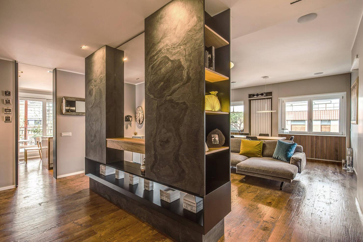 La renovación de un apartamento muy moderno