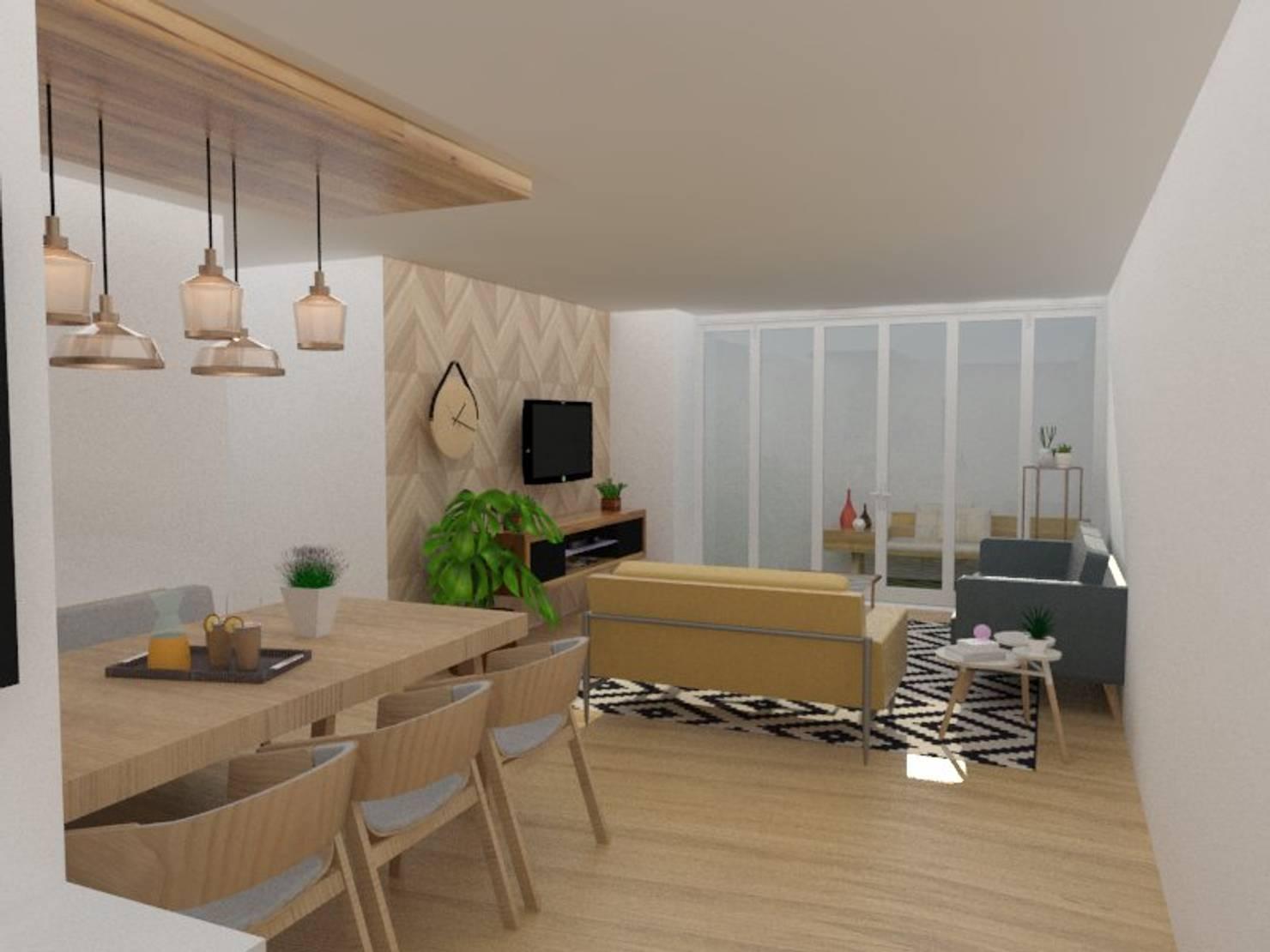 La moderna decoración de un apartamento de 130 m²