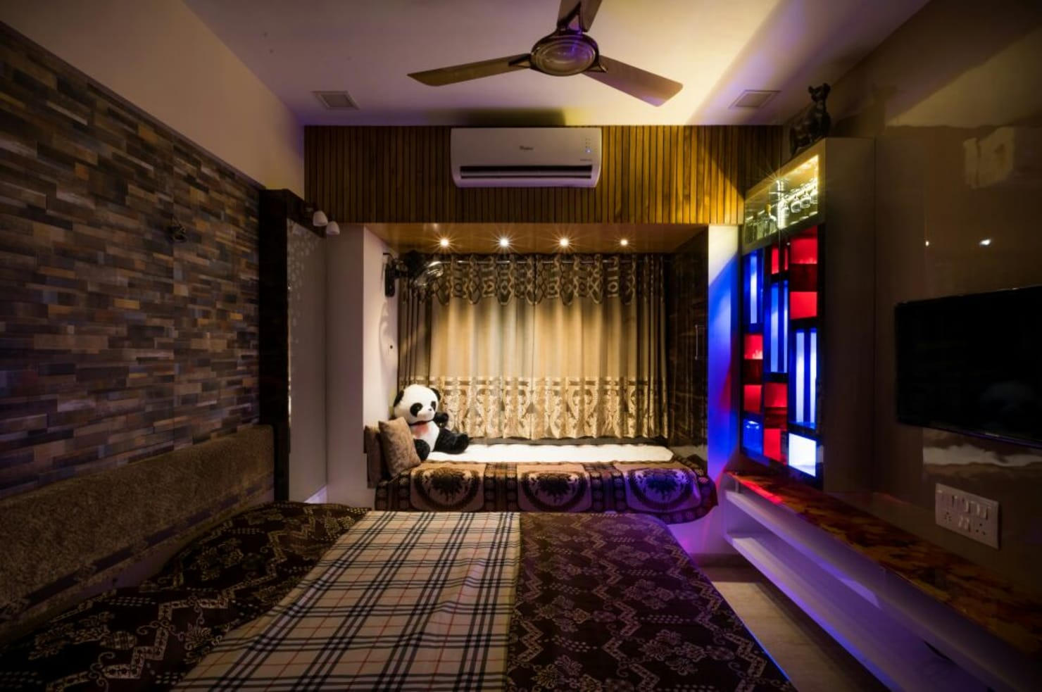 Bedroom lighting fixtures by interior architects in New Delhi