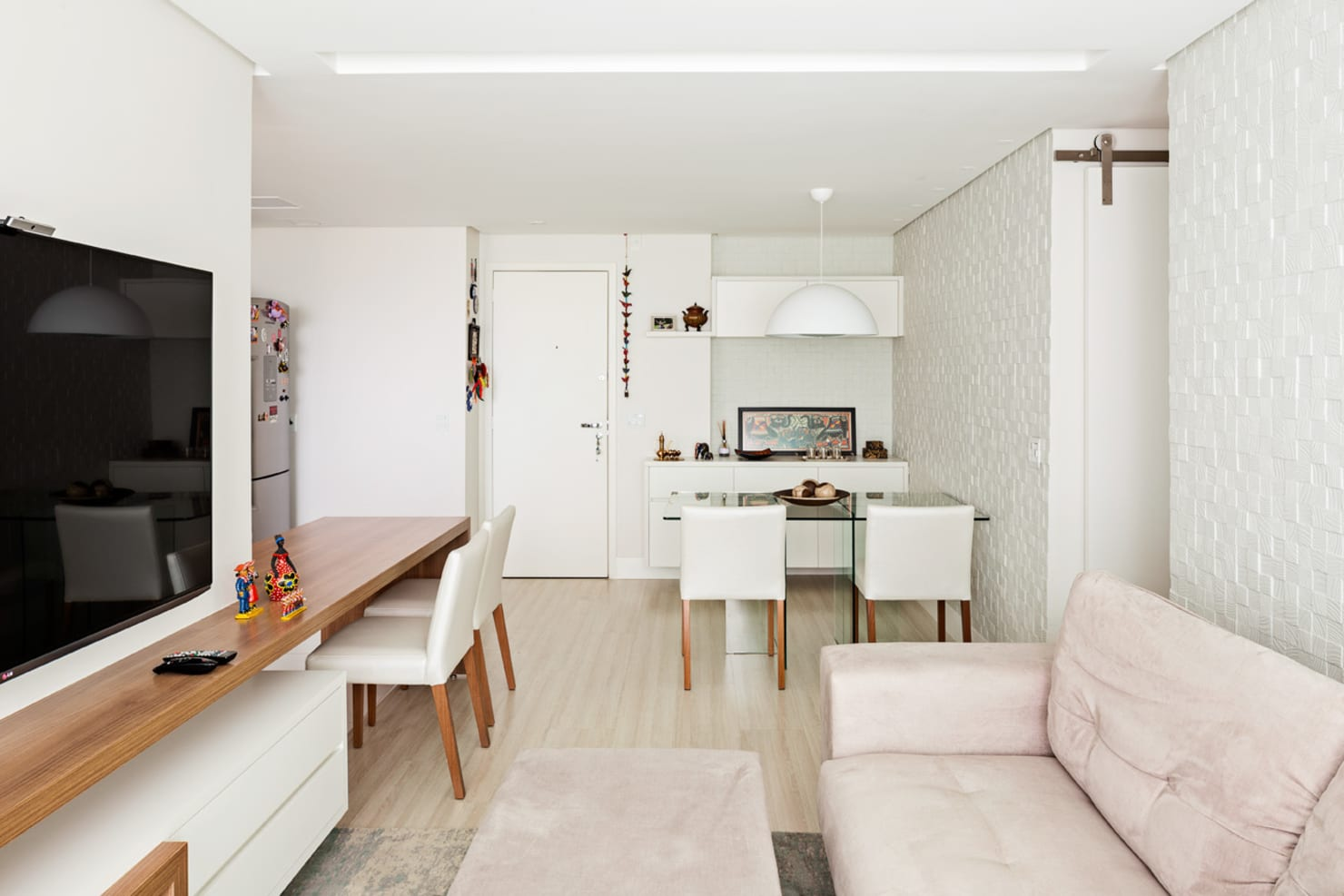 Aconchegante Projeto de Interiores de Apartamento em Brasília