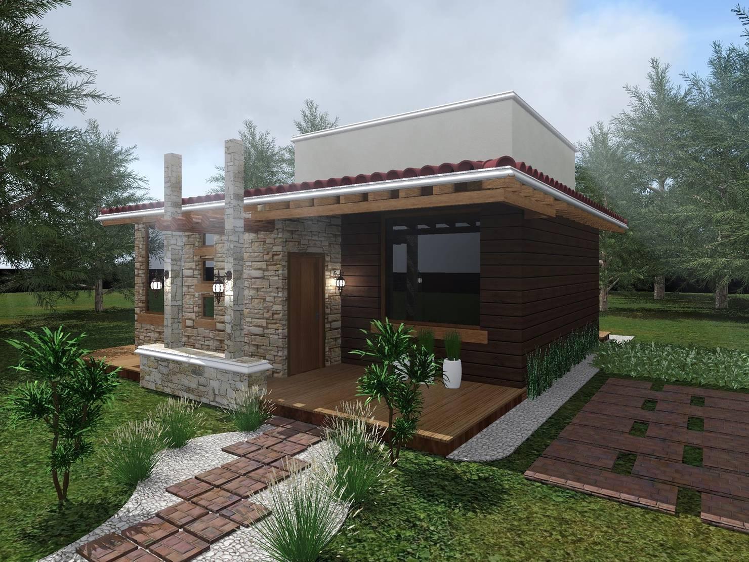 Una casa de campo pequeña y encantadora