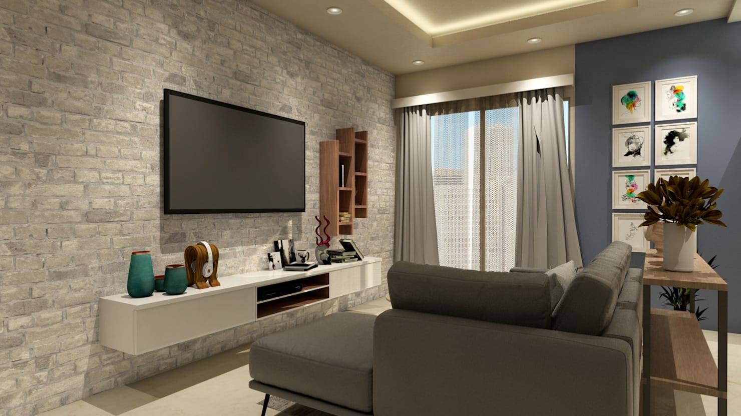 House Interior:  Living room by TheMistris