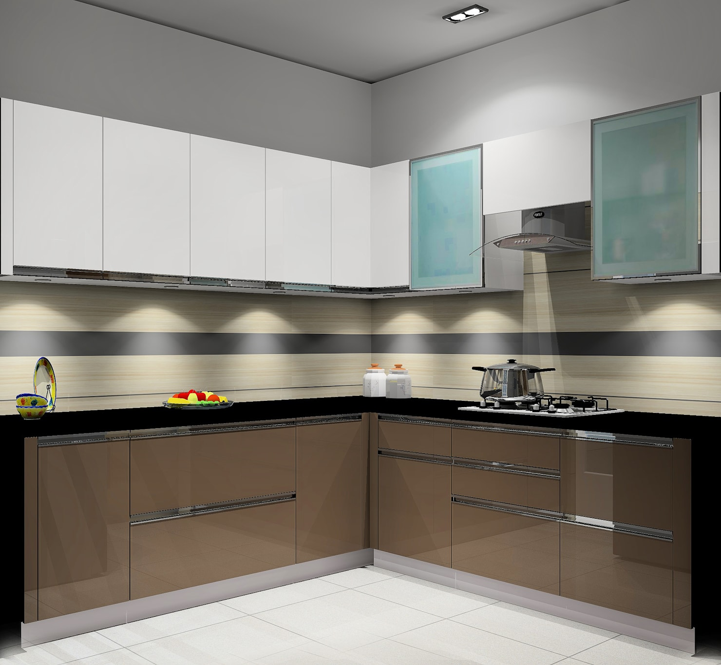 House Interior:  Built-in kitchens by TheMistris