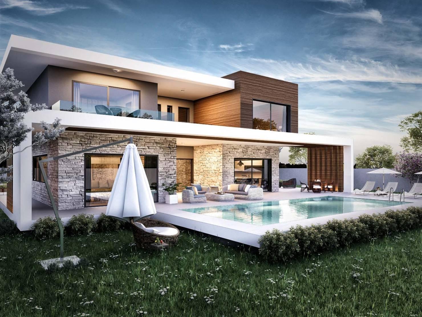 İzmir Güzelbahçe'de modern villa tasarımı