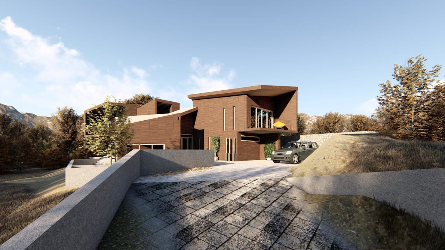 Diseño de casa moderna en Paine