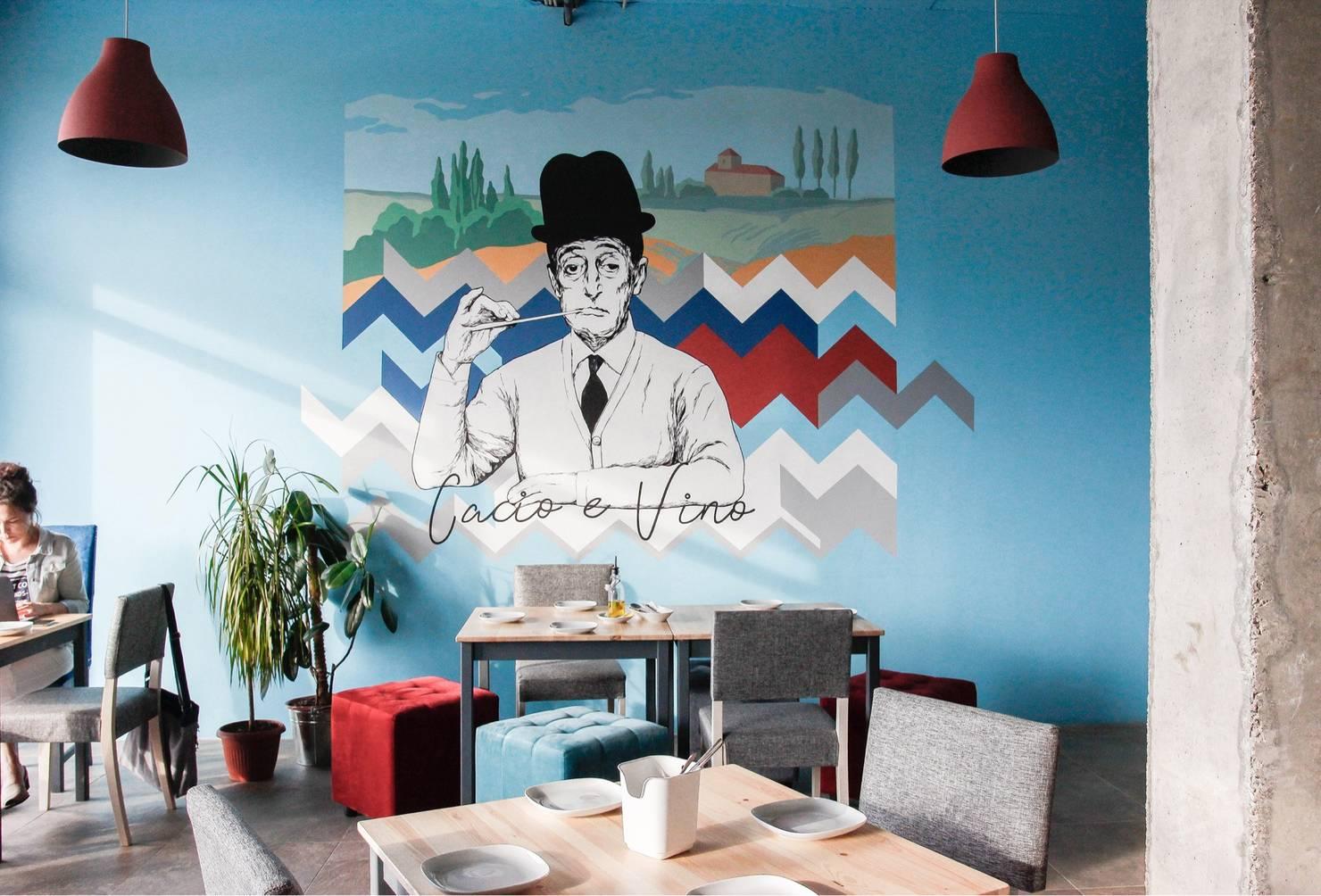 На фото - Дизайн интерьера кафе: 7 фото