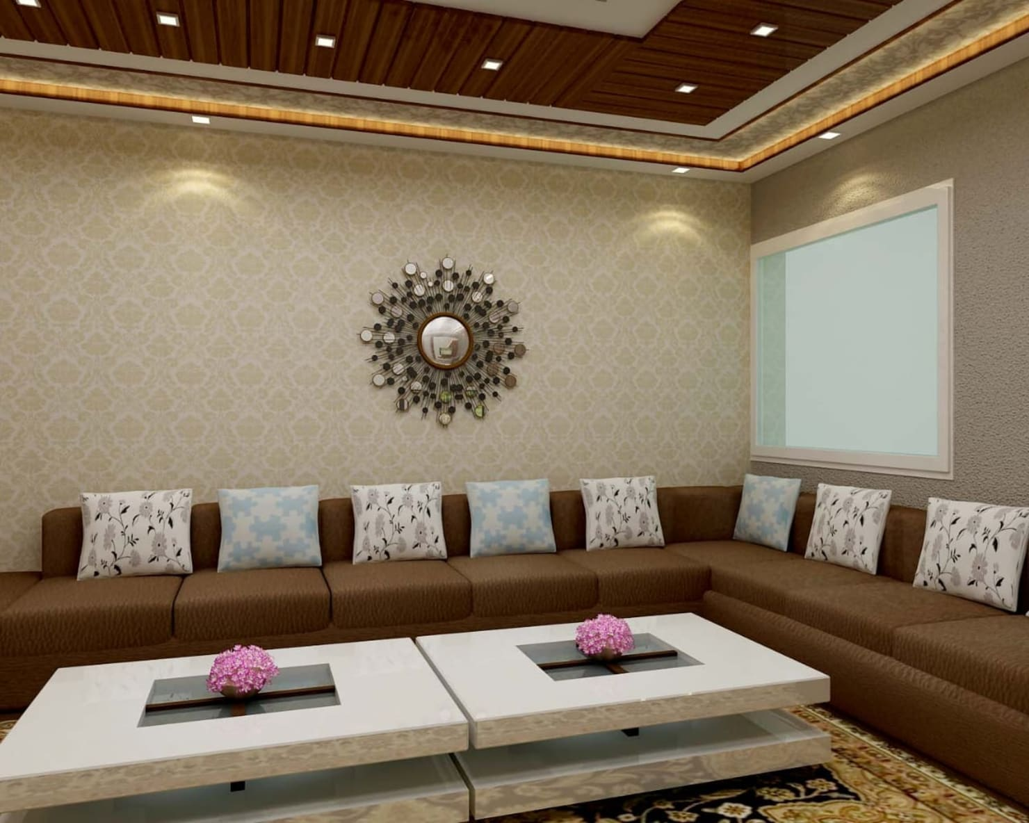 A Ghaziabad home with spacious interiors