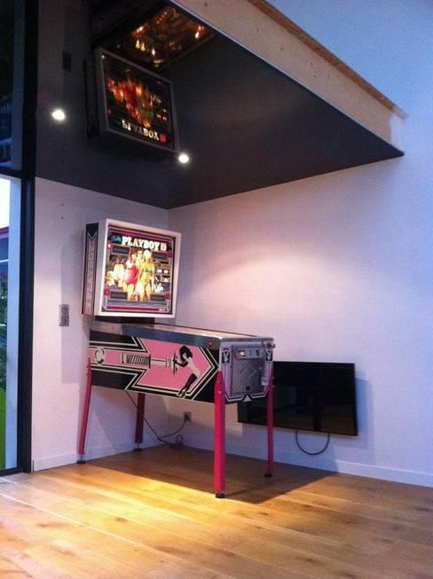 Loft AC/DC: Salle multimédia de style  par Allegre + Bonandrini architectes DPLG