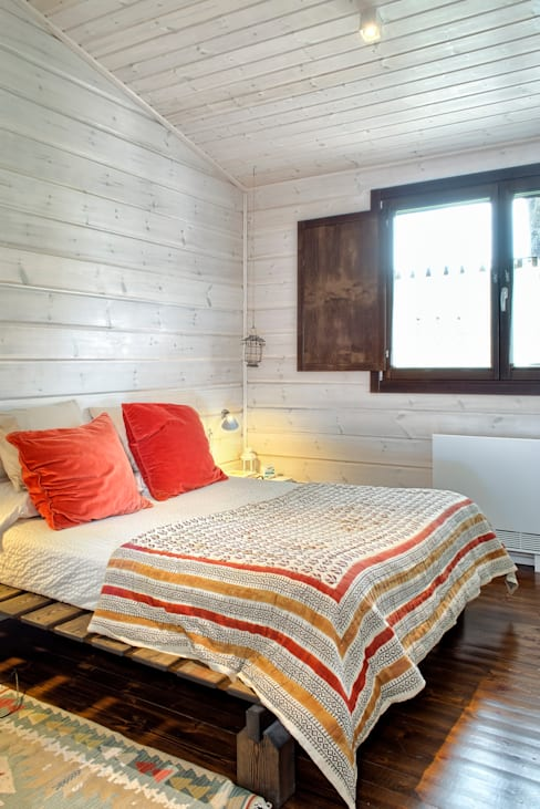 Projekty,  Sypialnia zaprojektowane przez HOUSE HABITAT