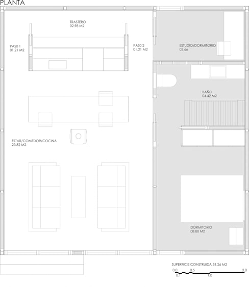 Casas de estilo  por DMP arquitectura