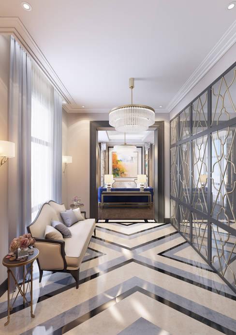 Апартаменты TriBeCa в стилистике Ар Деко: Коридор и прихожая в . Автор – Anna Clark Interiors