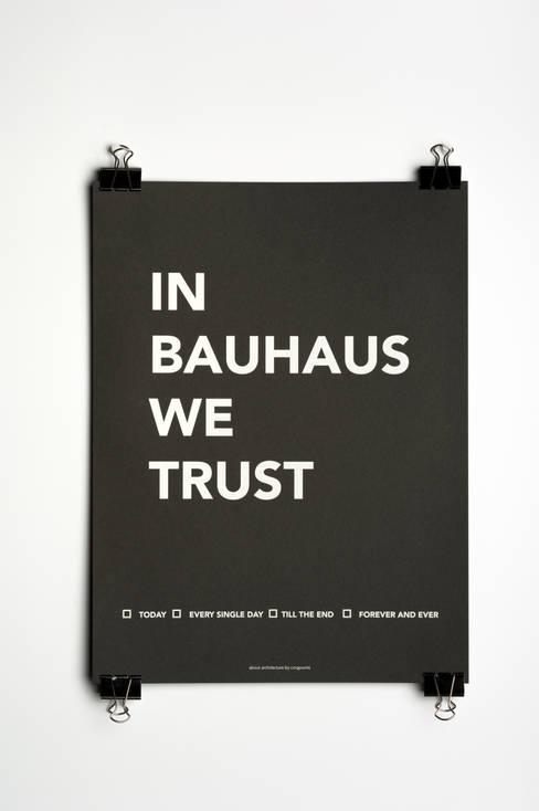 Affiche In Bauhaus We Trust: Art de style  par Agence A24COM