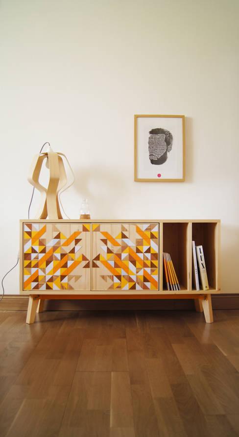 OSLO, Buffet Do It Yourself: Salon de style  par Mathilde Defond