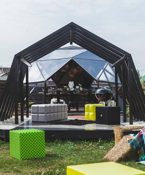 Gazebo ad pergola for a TV-programme Fazenda: Tерраса в . Автор – SHKAF interior architects