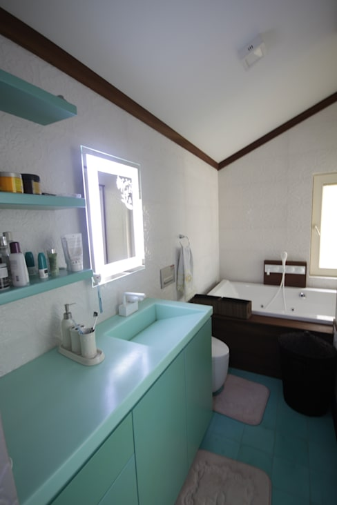 DerganÇARPAR Mimarlık  – AHMET ASLI İLHAN EVİ :  tarz Banyo