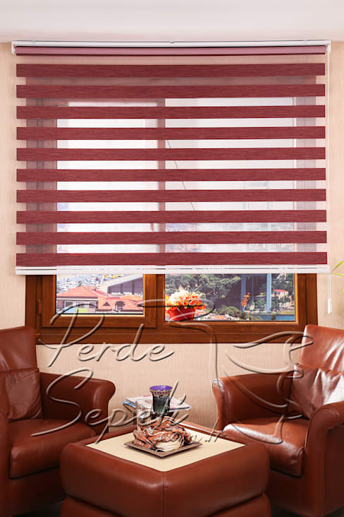 Perde Sepeti – Funda Bamboo Zebra Perde:  tarz Pencere & Kapılar