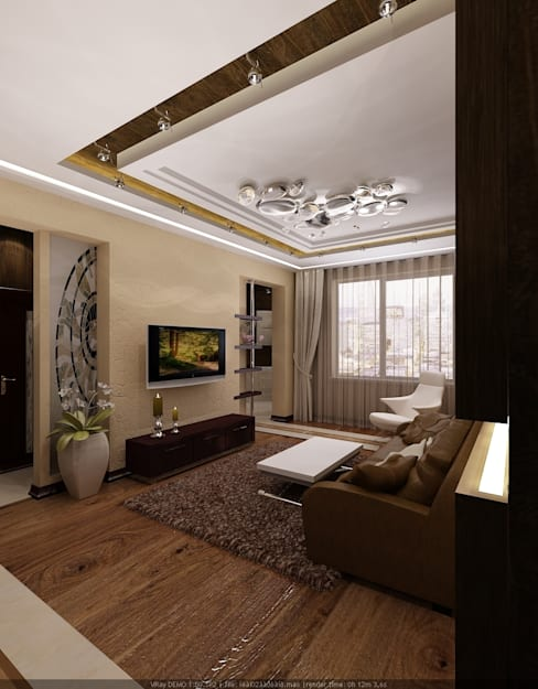 Living room by Студия дизайна Натали Хованской
