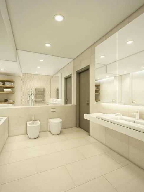Banheiros  por EVGENY BELYAEV DESIGN