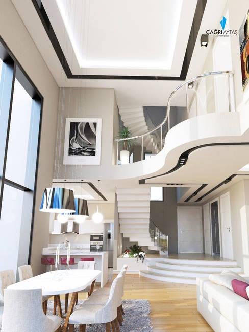 Çağrı Aytaş İç Mimarlık İnşaat – HANEDAN KONUTLARI:  tarz Oturma Odası