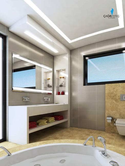 Çağrı Aytaş İç Mimarlık İnşaat – HANEDAN KONUTLARI:  tarz Banyo