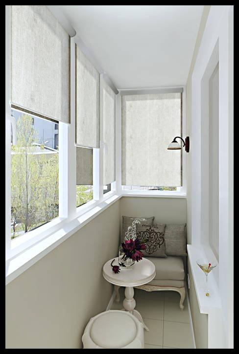 Балкон. Вид 1: Tерраса в . Автор – Defacto studio