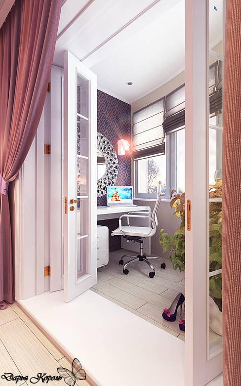 bedroom with dressing room: Tерраса в . Автор – Your royal design