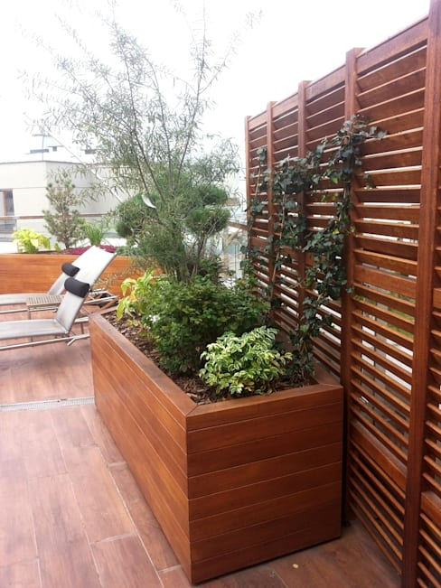 Jardines de estilo  por GREENERIA