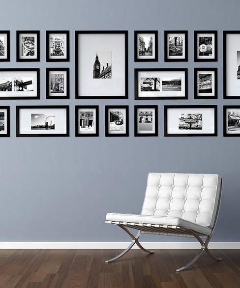 PHOTOWALL GALLERY FRAME 10P SET - Black 2 Set: A.MONO Co,.LTD.의  벽 & 바닥