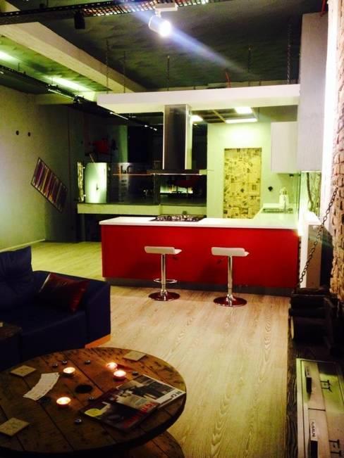 Loft House Tasarım Ofisi – Loft house giriş kat after:  tarz