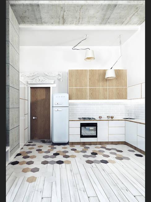LOFT APARTMENT МОСКВА: Кухни в . Автор – IK-architects