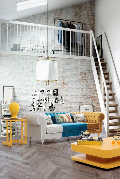Mahir Mobilya – ancona renkli tasarım koltuk:  tarz İç Dekorasyon