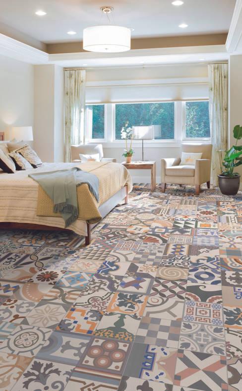 Dormitorios de estilo  por The Baked Tile Company