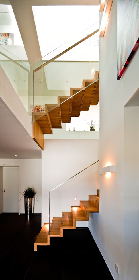 Projekty,  Korytarz, przedpokój zaprojektowane przez brügel_eickholt architekten gmbh