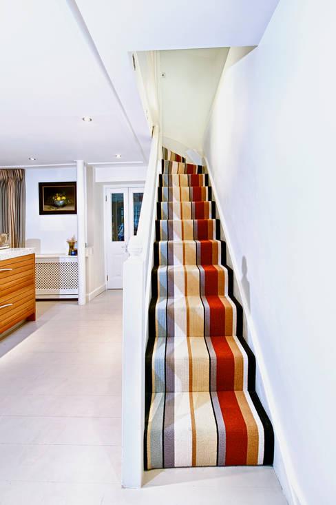 Corridor, hallway & stairs by Warp & Weft (uk) Ltd