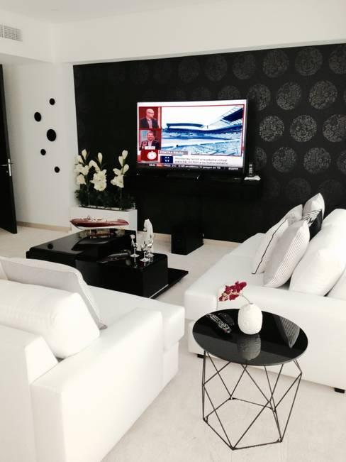 Projekty,  Salon zaprojektowane przez DECO Designers