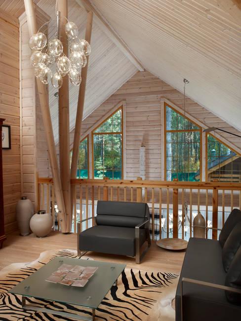 ห้องนั่งเล่น by Woody-Holzhaus - Kontio