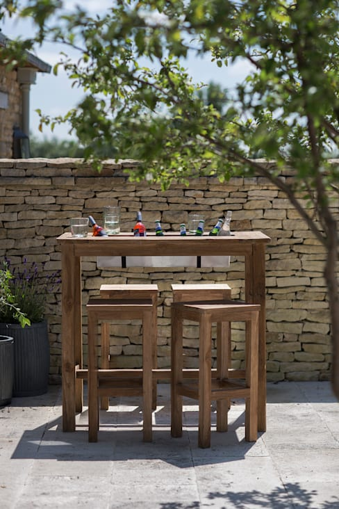St Mawes Bar Table with Drinks Cooler:  Garden  by Garden Trading