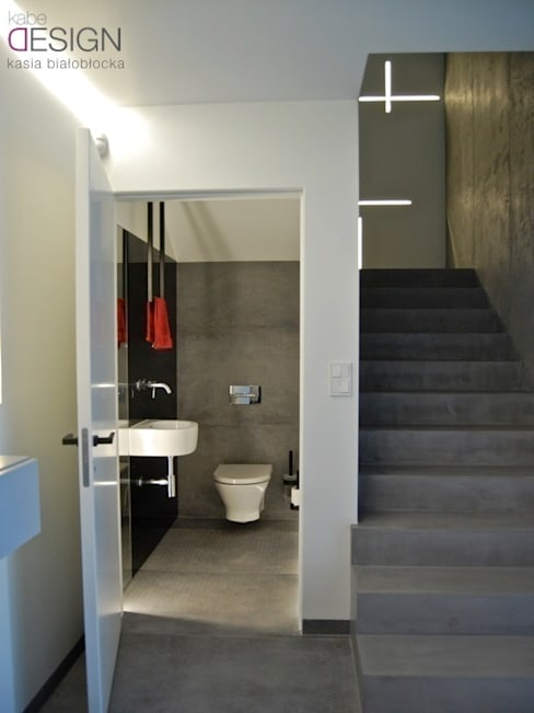 Ванные комнаты в . Автор – kabeDesign kasia białobłocka