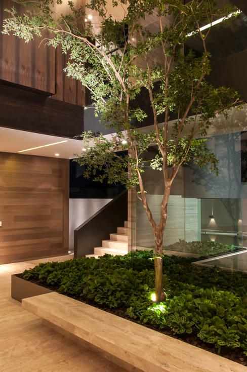 Casa ML: Pasillos y recibidores de estilo  por Gantous Arquitectos