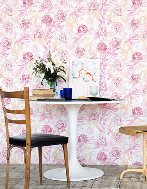 A superb collection of watercolour wallpaper designs by Lara Costafreda:  Walls & flooring by Paper Moon