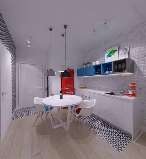 Mieszkanie na wynajem 31m2 Warszawa-Opcja I: styl , w kategorii Kuchnia zaprojektowany przez The Vibe