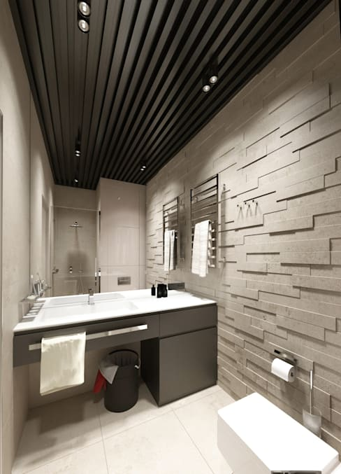 Студия для холостяка: Ванные комнаты в . Автор – Y.F.architects