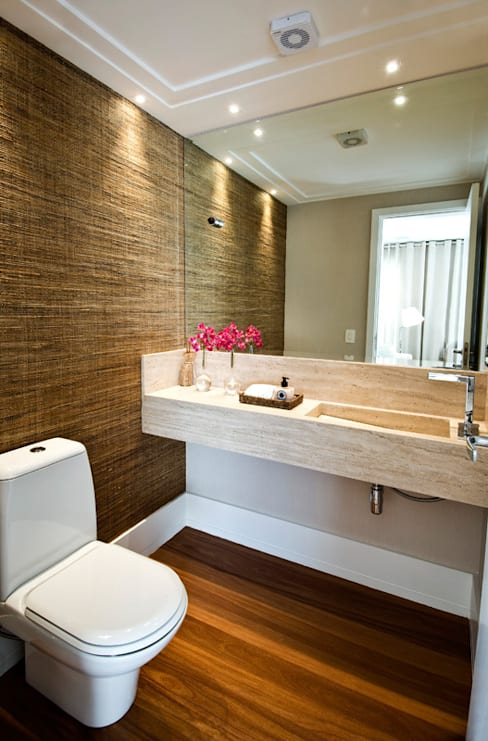 Lavabo : Banheiros  por Cavalcante Ferraz Arquitetura / Design