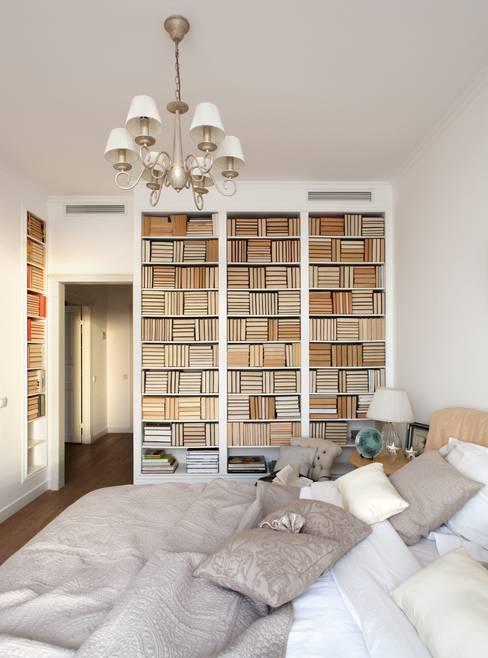Идеальный фон (ЖК Авеню77) : Спальни в . Автор – White & Black Design Studio
