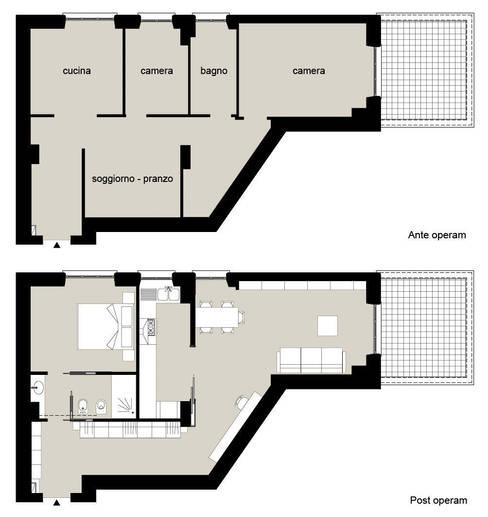 casa in via di Valle Corteno:  in stile  di studio di architettura Comes Del Gallo