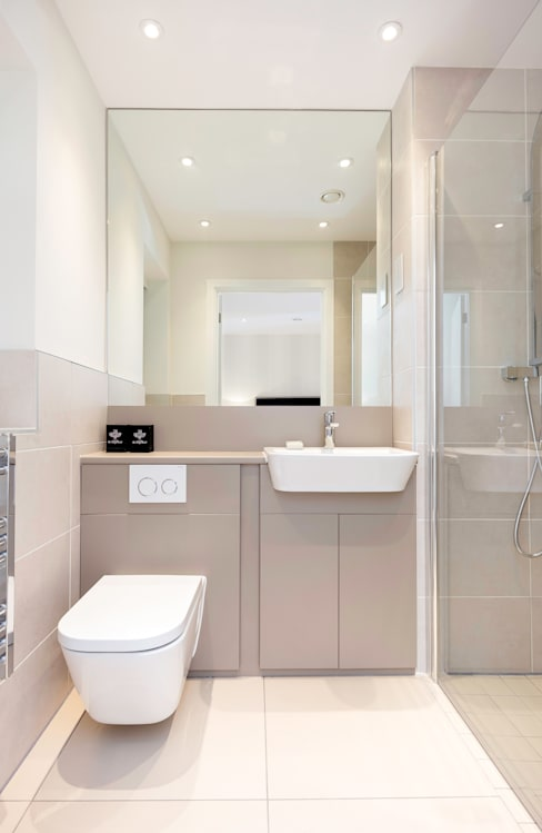 Banheiros  por WN Interiors of Poole in Dorset